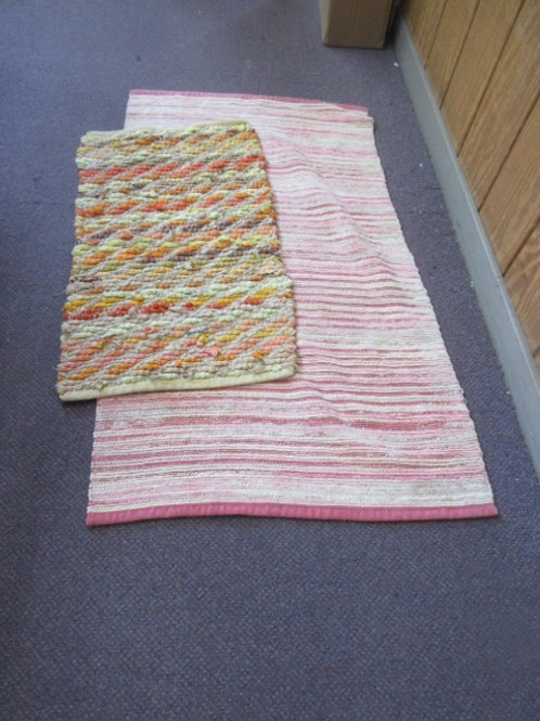 Pair of rag style throw rugs from bed, bath & beyond
