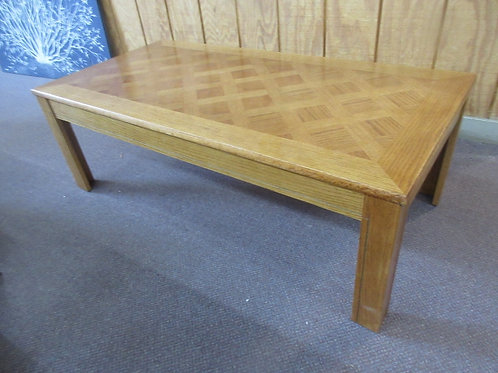 Large rectangular wooden coffee table