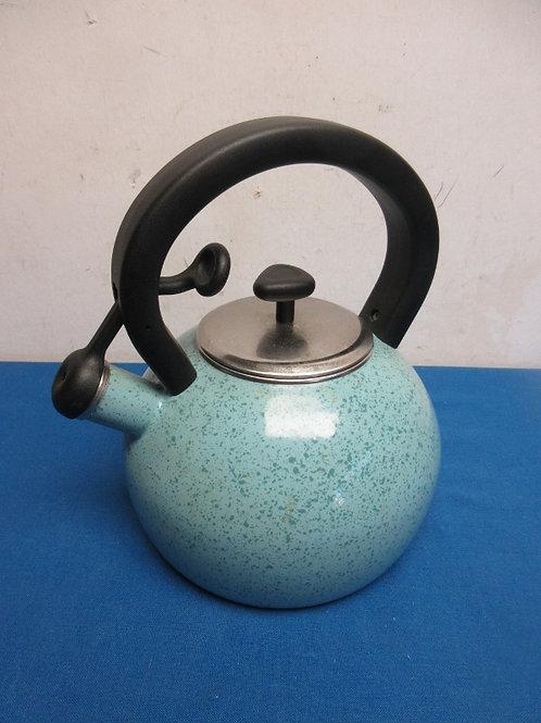 Paula Deen blue whistling tea kettle