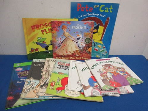 Set of 10 assorted story books clifford sammy the seal and more