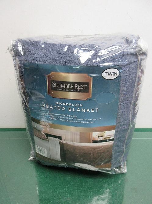 Slumber Rest twin Blue micro plush heated blanket
