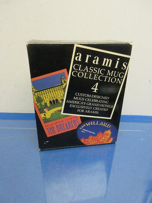 Aramis classic 4 mug collection each a grand hotel, in box