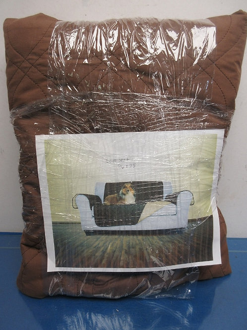 Brown quilted furniture cover for a love seat 75x96""