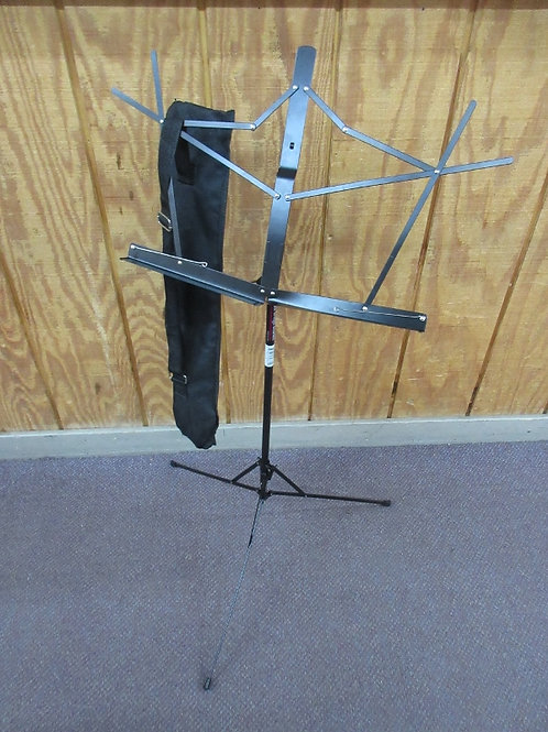 Black metal music stand with cloth case