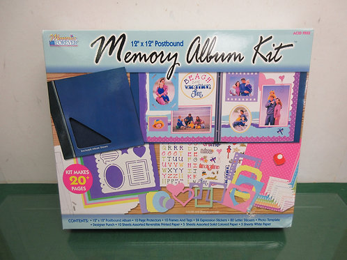 Memory album kit with scissors, hole punch and some accessories