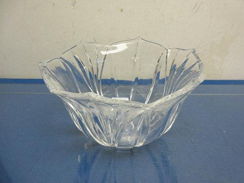 "Lead Crystal bowl made in Poland 7"" diameter x 4.5"" deep"