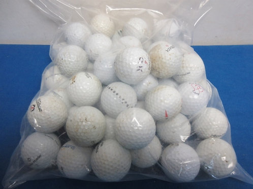 Bag of 50 used golfballs - assorted brands - 2 bags available