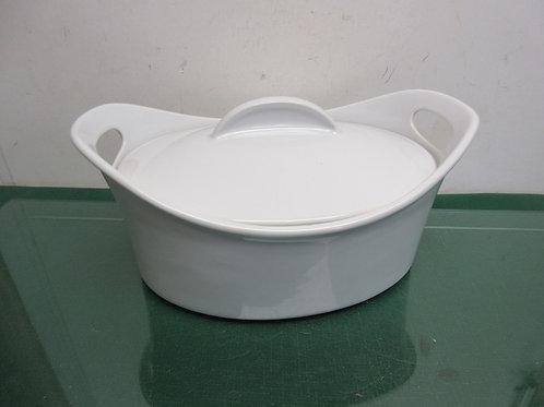 Rachel Ray ceramic 4.24qt bubble & brown oval baker w/lid