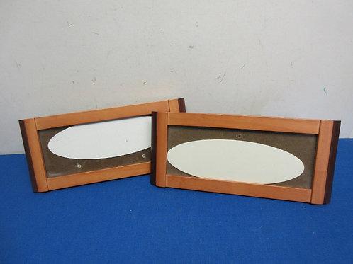 "Burnes of Boston rare wood rectangular frames, set of 2, 5x12"""