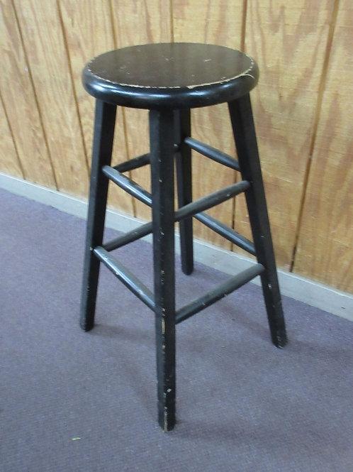 """Black wood bar stool, 30"""" tall, Wear"""