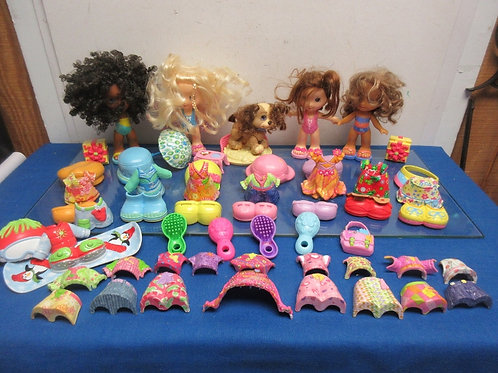Fisher Price Snap 'n Style doll set - 4 dolls, dog, 16 outfits, shoes & accessor