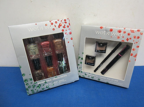 Wet N Wild - Eye shadow kit and 6 bottles of nail polish,  New in Package/Sealed
