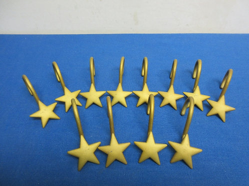 Gold star shower hooks, 2 sets available