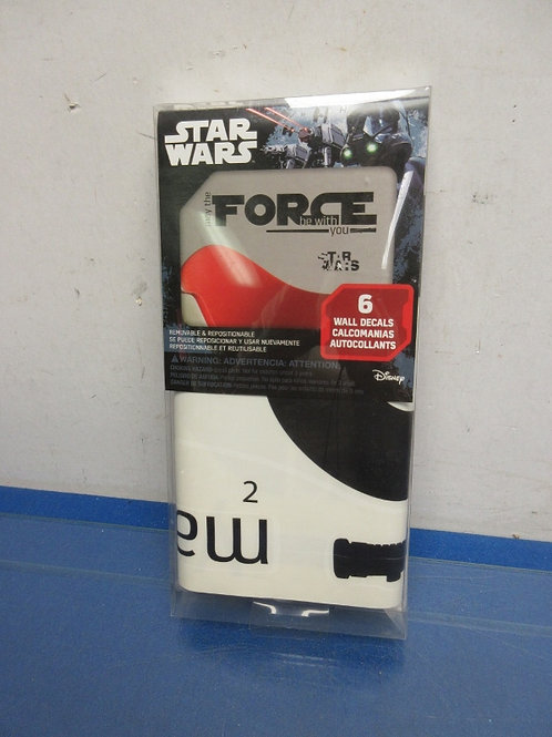 """Star Wars """"May the force be with you"""" wall decal, new in package"""