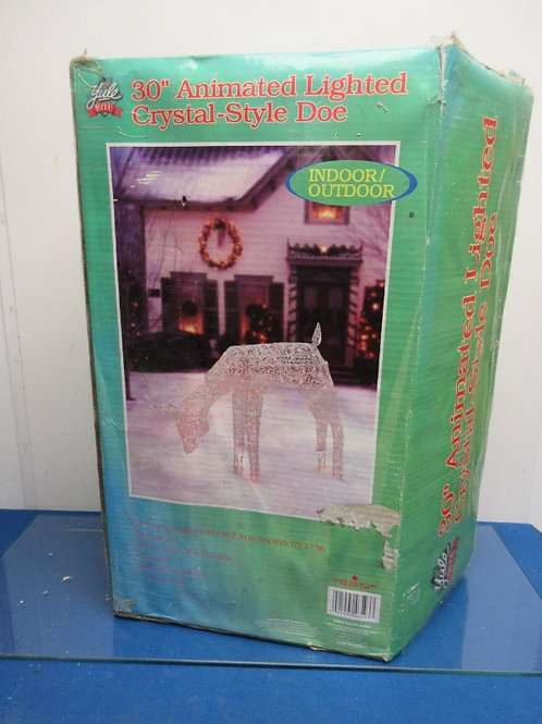 "Indoor/outdoor 48"" animated lighted crystal Doe, in box"