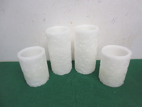 Set of 4 battery pillar candles all tested, all work