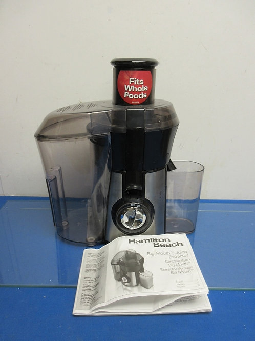 Hamilton Beach black and stainless juicer
