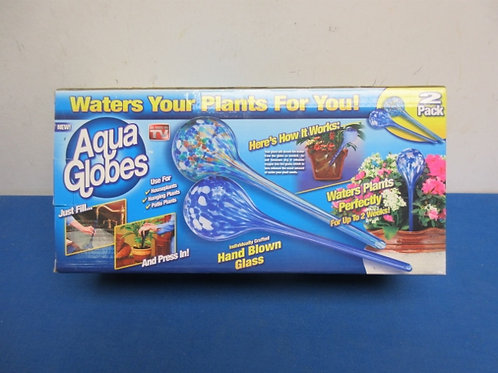 Aqua Globes, 2 blue glass globes for watering plants/New in box