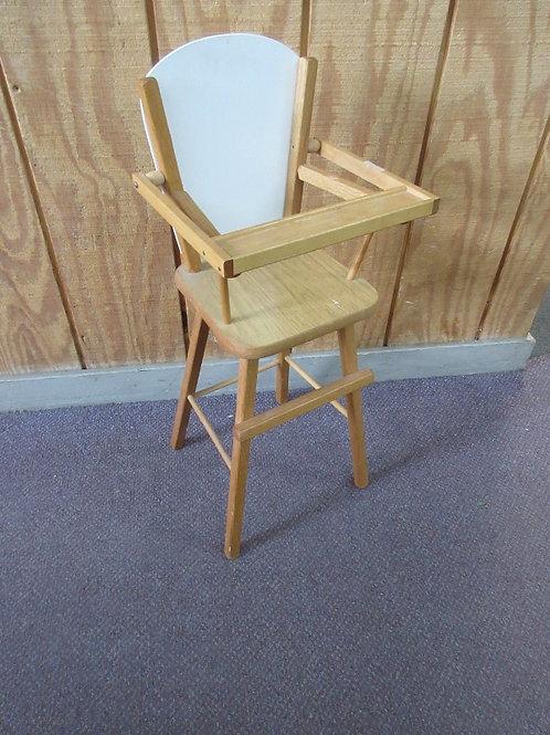 Baby doll  wood high chair