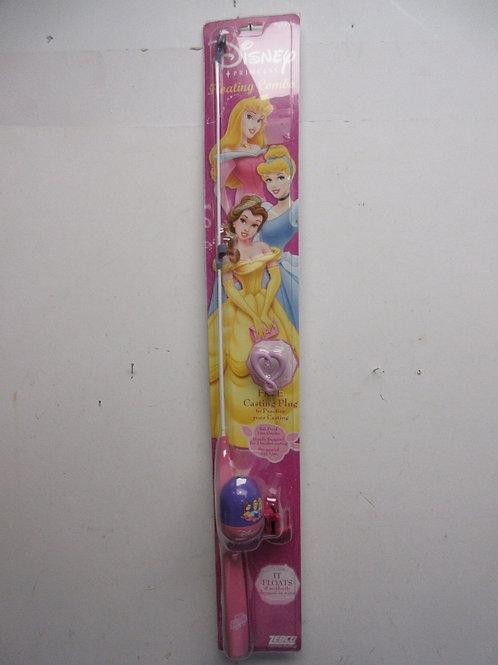 """Zebco floating """"catch 'em kit"""" Disney Princess rod for girls, new in pkg"""