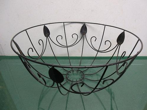 "Black wire metal open bowl 14"" dia x 7"" high"