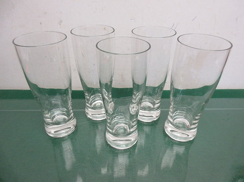 Set of 5  tall pilsner glasses