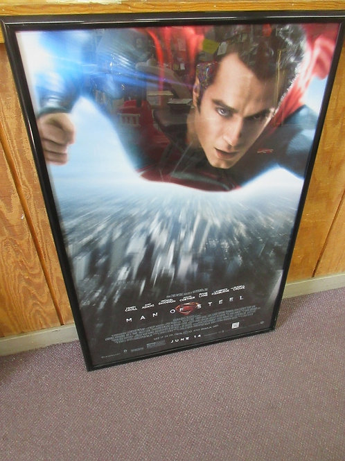 Man of Steel-colored framed movie poster 28x41""