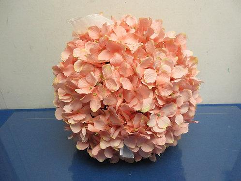 """Wicker Park, 13"""" indoor,outdoor pink hydrangea sphere"""
