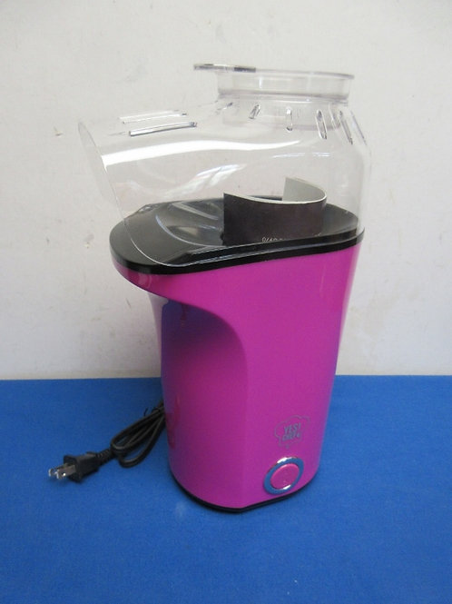 Yes Chef Magenta hot air popcorn popper with butter dish