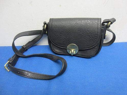 Merona black cross body purse
