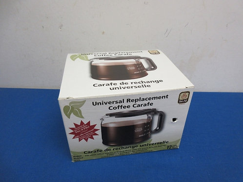 Universal 12 cup coffee carafe replacement for coffee maker, New