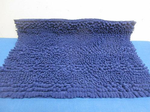 Navy Blue small microfiber shag style bathroom rug 18x24