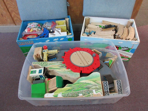 Group of 3 full boxes of Thomas the Train track and accessories