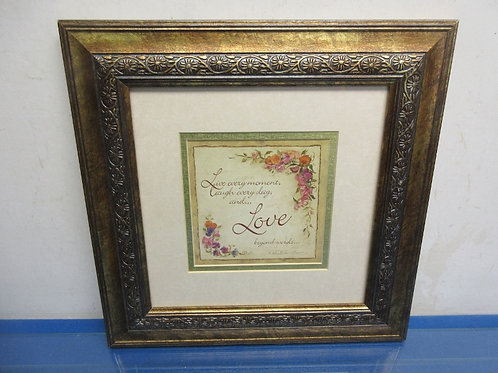 """""""Live every moment...""""multi mat print with copper tone frame 12.5x12.5"""""""