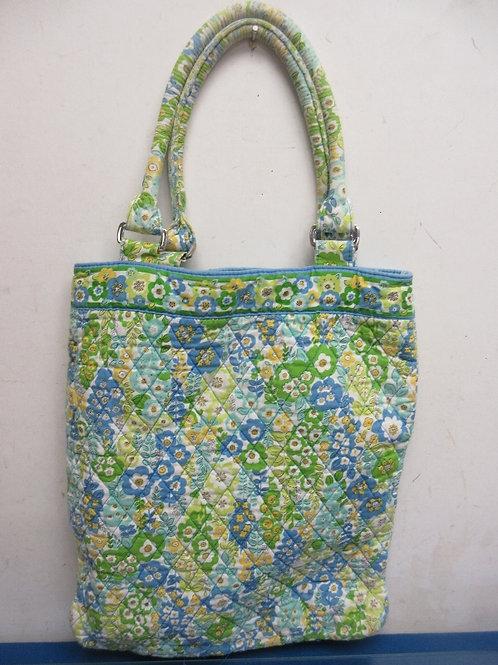 Vera Bradley blue & yellow floral large shoulder purse