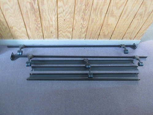 Queen size metal bed frame w/metal support slats on 6 heavy duty wheels
