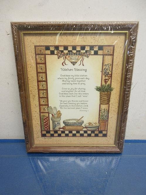 """Framed Kitchen Blessing, new, sealed 8x10"""""""