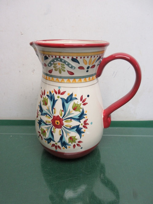 """Bobby Flay floral design pitcher, 10""""high"""