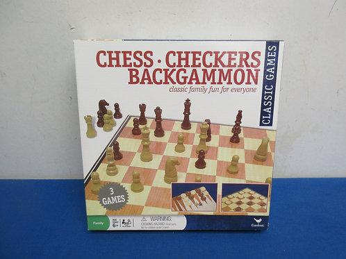 Chess, checker and backgammon game