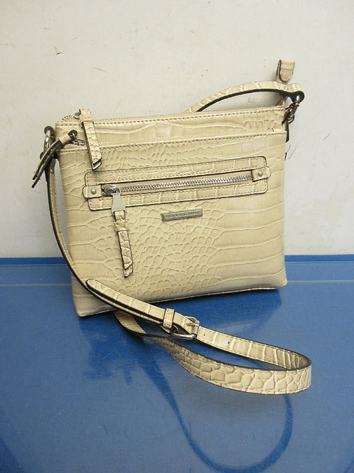 Dana Buchman beige faux reptile skin purse, New
