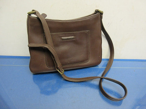 Liz Claiborne brown leather purse with shoulder strap