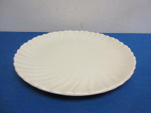White  Franciscan ware round platter