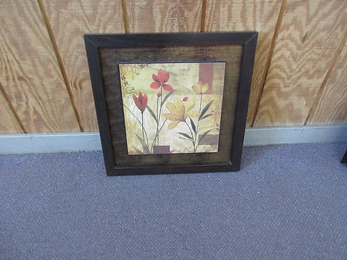 Medium size print of yellow and red flowers - 18x18