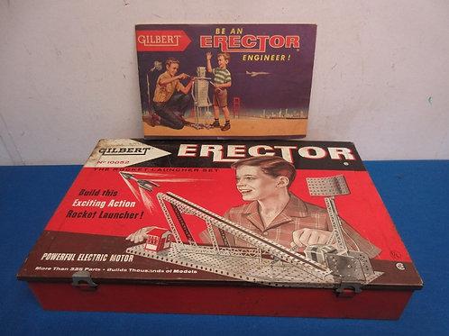 Gilbert Erector set - No 100052 in original metal box - 1954 - not perfect