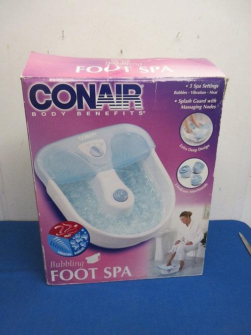 Conair vibrating, heating foot spa