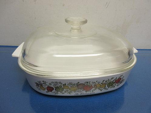 Corningware Spice of Life Le Romarin 10x10 baking dish w/glass  lid
