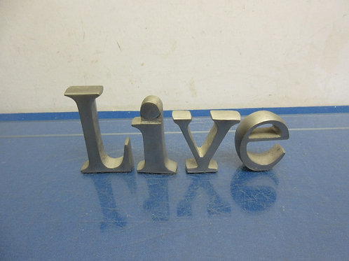 "Pewter ""Live"" standing sign, 3"" tall"