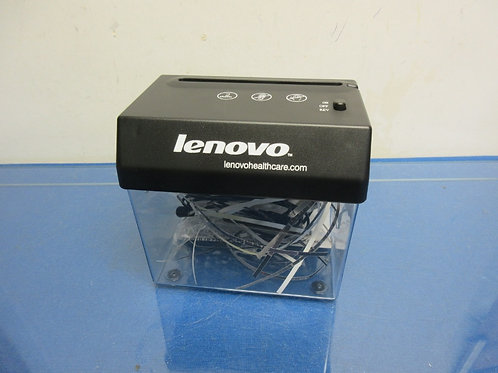 Lenovo mini battery operated desk top shredder also plugs into your computer