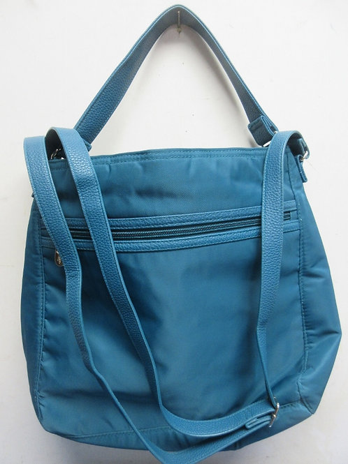 Thirty One teal shoulder purse with multi compartments