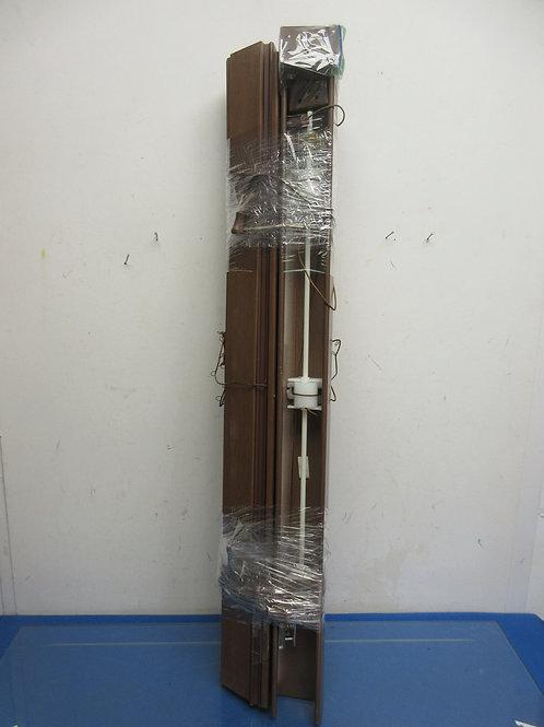 "Levolor brown 2"" wood blind - 30"" wide"